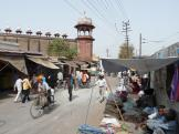 Typical street in Agra, India.