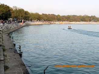 Kankaria Lake in the early evening, Ahmedabad, India.