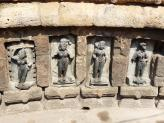 Beautiful carvings of Yogini at Chausath Temple - India.