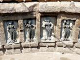 Inner wall carvings of Yoginis at Cahusath Temple, India.