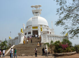 The Shanti Stupa at Dhauli, Bhubaneswar, India.