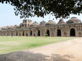 Extended Elephant Stables at Hampi.