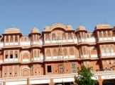 Pink buildings in the Pink City of Jaipur, India.