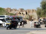 Bus station and tuk tuks at Jaisalmer, India.