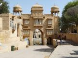 Gadi Sagar entrance gate, Jaisalmer, India.