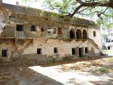 Inner courtyard at Jahalwar Garh - India.