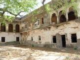 Jahalwar Garh - inner courtyard buildings - India.