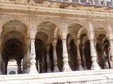 Nicely shaped pillars at Chhatri Cenotaphs