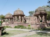 Cenotaphs which an be seen at Mandor, Jodhpur, India