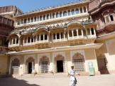 The outside of part of the Maharaja's Palace at Jodhpur India