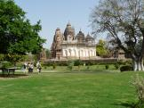 Gardens and Temples at Khajuraho, India.