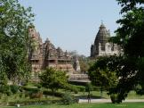 Beautifully laid out area at Khajuraho, India.