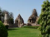 Both Lakshmana and Matangesvara Temples - Khajuraho, India.