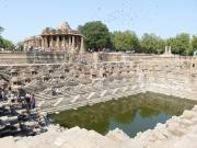 Modhera Sun Temple and Kund, Gujarat, India.
