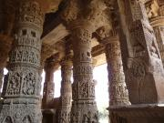 Modhera Sun Temple sculptured pillars, Gujarat, India.