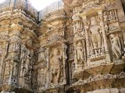 Modhera Sun Temple beautiful sculptures, Gujarat, India.