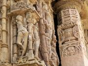 Modhera Sun Temple has carvings all round the outside (India)