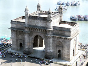 India's famous Gateway of India - near the port in Mumbai, India.