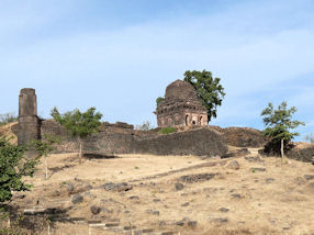 One of the many watchtowers around Mandu in India.