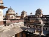 Up on the top level of Jahangir Mahal at Orchha, India