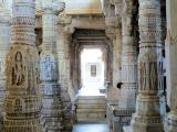 Adinath Temple carved columns, Ranakpur, India.