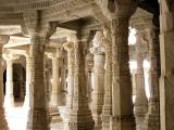 Adinath Temple Pillars - each pillar has different carving on it, Ranakpur, India.