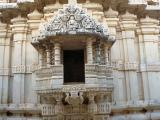 Adinath Temple small balcony - Ranakpur in India