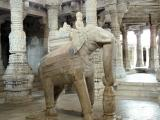 Marble elephant at Adinath Temple, Ranakpur, India.