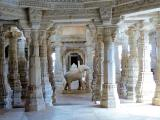 Adinath Temple uniquely carved pillars (Ranakpur India)