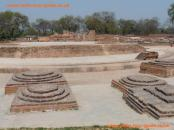 Site of Dharmarajika Stupa, Sarnath, India