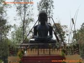A large Buddha statue at Sarnath, India.