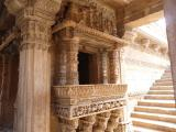 Adalaj Step Well carved balcony - India.