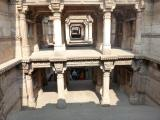 Adalaj Step well galleries deep inside the well (India)