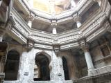 Looking up from the bottom of Adalaj Step well (India)