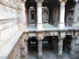One of the several columned galleries at Dada Hari ni Vav in India.