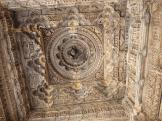Beautifully carved inner dome at Nagda Temples, India