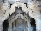 Carved columns at Nagda Temples, India
