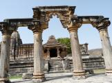 Nagda Temples - caved entrance pillars.