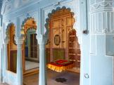 Beautifully decorated rooms to see at Udaipur Palace